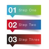 One two three Oprion progress. Vector Stock Illustration