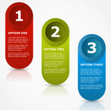 One two three options banners. Royalty Free Stock Image
