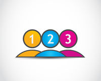 One, two, three options group Stock Photography