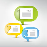 One Two Three, Paper Infographics Royalty Free Stock Image