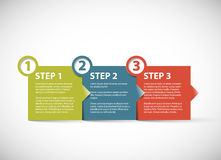 One two three -  paper retro steps Stock Photography