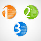 One two three -  progress icon. Stock Images