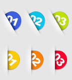 One two three - vector cards with numbers Royalty Free Stock Photos