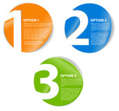 One two three - vector cards with numbers Royalty Free Stock Photo