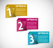One two three - vector paper options Stock Image