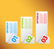 One two three - vector paper options Royalty Free Stock Photos