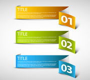 One two three - vector paper options Royalty Free Stock Photography