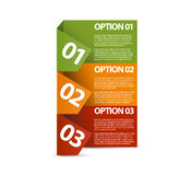 One two three - vector paper options Royalty Free Stock Images