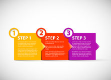 One two three - vector paper steps Royalty Free Stock Images
