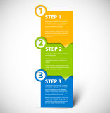 One two three - vector paper steps Royalty Free Stock Image
