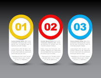 One two three - vector progress icons Royalty Free Stock Images