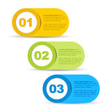 One Two Three - Vector Progress Icons Stock Images