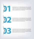 One two three - vector progress icons Stock Photo