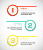 One two three - vector progress steps. Stock Photography
