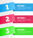 One two three - vector progress steps Royalty Free Stock Images