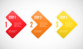 One two three - vector progress steps Stock Photo