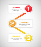 One two three - vector progress steps. Royalty Free Stock Image