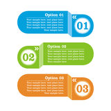 Options banner. Vector illustration Stock Images