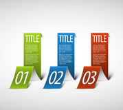 One two three - white vector paper options Royalty Free Stock Images