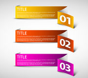 One two three - white vector paper options Stock Images
