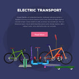One and two wheeled mobility electric vehicle vector illustration, Eco alternative city transport bik and rolling wheels Stock Photo