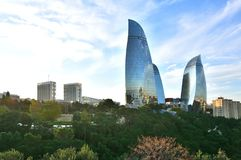 One of the types of the city of Baku. stock photo