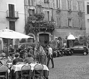 One of the typical restaurant in Rome Italy Stock Photos