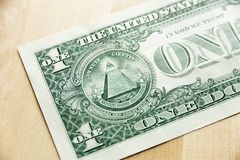 One u.s. dollar Royalty Free Stock Photography