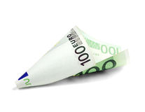 One undred euro bill. On white background Royalty Free Stock Photography