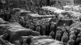 One of Unesco Heritage site;Terra-cotta warriors; Restored Terra Stock Image