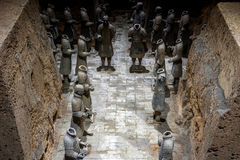 One of Unesco Heritage site;Terra-cotta warriors; Restored Terra royalty free stock image