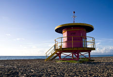 One of the unique lifeguard station in Miami Beach Royalty Free Stock Photos