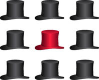 One unique red hat Stock Images