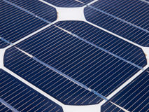 One unit on a solar panel. Under a clear sky Royalty Free Stock Photos