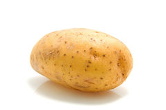 One unpeeled raw potato Stock Images