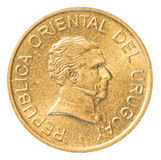 One Uruguayan peso coin Royalty Free Stock Photography