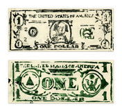 One US Dollar. Photo of 2D drawing Stock Image