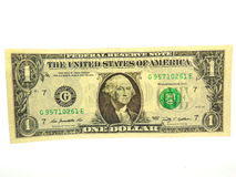 One US Dollar Bill Royalty Free Stock Photography