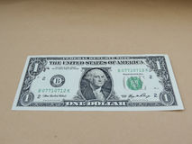 One US dollar bill Royalty Free Stock Photo