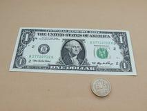 One US dollar bill Stock Image