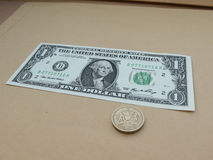 One US dollar bill Stock Photos