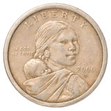 One US dollar coin stock image