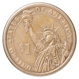 One US dollar coin stock photos