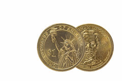 One US dollar obverse and reverse coin Royalty Free Stock Image