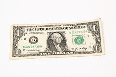 One US  dollar. One US paper dollar note Stock Photography