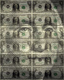 One USA dollar background Royalty Free Stock Images