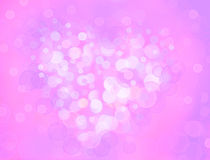 One Valentine's bokeh heart. Colorful shape. Can be used as valentine card, flyer, banner, invitation card for wedding. Or other holiday events Stock Image