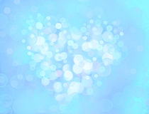 One Valentine's bokeh heart. Colorful shape. Can be used as valentine card, flyer, banner, invitation card for wedding. Or other holiday events Royalty Free Stock Images