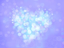 One Valentine's bokeh heart. Colorful shape. Can be used as valentine card, flyer, banner, invitation card for wedding. Or other holiday events Stock Images