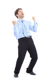 One very happy energetic Royalty Free Stock Image